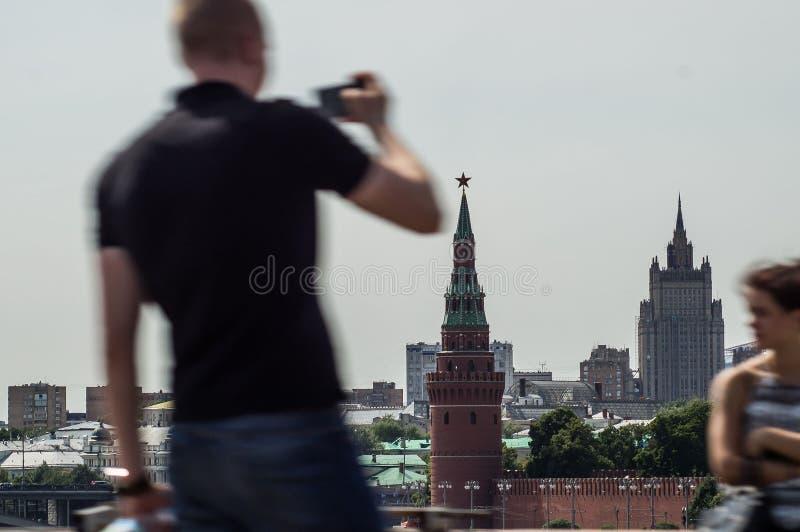 Moskou het Kremlin in Rusland stock fotografie