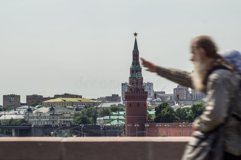 Moskou het Kremlin in Rusland stock afbeelding
