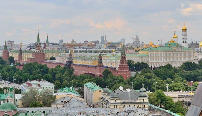 Moskou het Kremlin in Moskou, Rusland, hoogste mening stock afbeeldingen