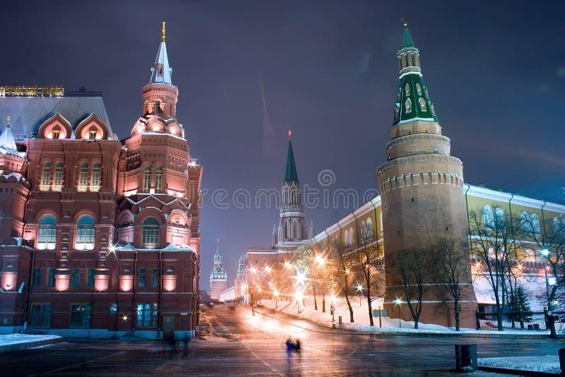 Moskou, ingang in het Rode Vierkant stock foto's