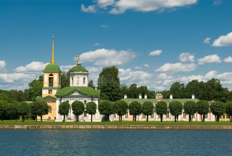 Moskou. Kuskovo stock foto