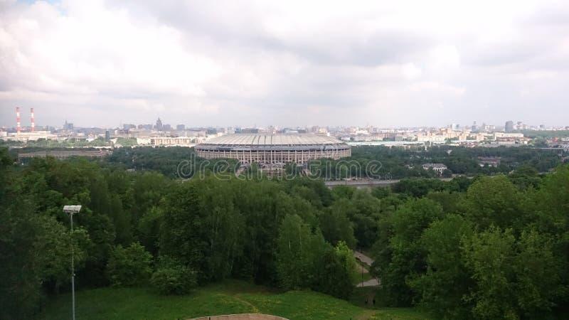 Moskou, 23 Mei 2016, Luzhniki-Stadion in Moskou, Rusland, hoogste mening stock fotografie