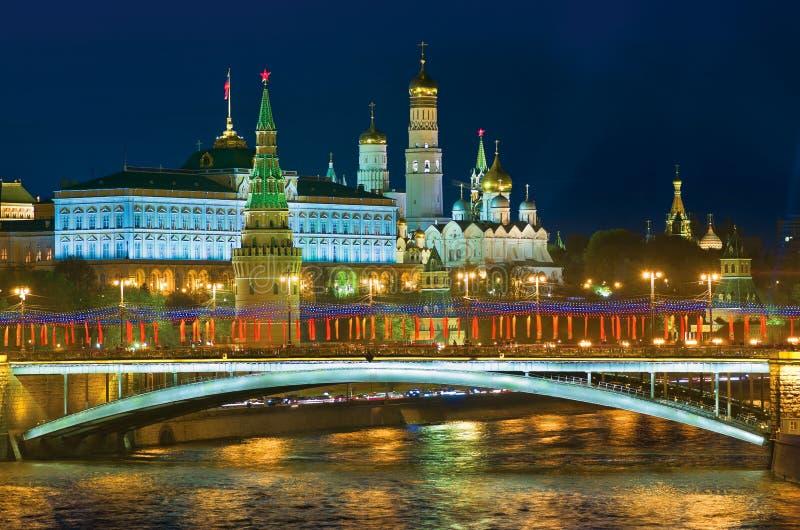 Moskou op de vooravond van een vakantie royalty-vrije stock foto's