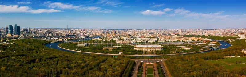 Moskou, panorama royalty-vrije stock afbeeldingen