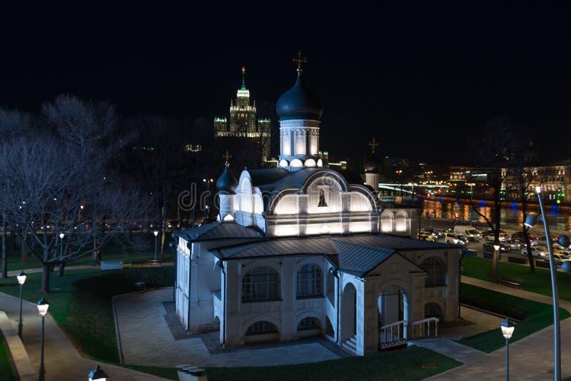 Moskou, Rusland De Kerk van de Conceptie van Anna oprechtheid in het park Zaryadye royalty-vrije stock afbeeldingen