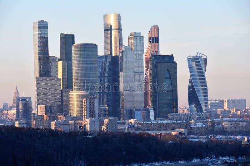 Moskou, Rusland: De Stad van Moskou is een handelscentrum royalty-vrije stock foto