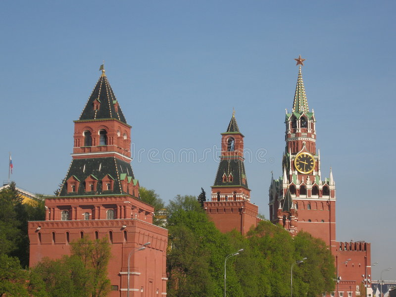 Moskou, Rusland, het kasteel van het Kremlin royalty-vrije stock afbeelding