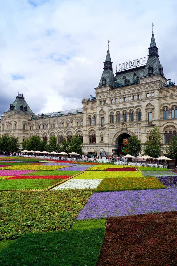 MOSKOU, RUSLAND - JULI 21: Festival van Bloemen op Rood Vierkant in h royalty-vrije stock foto