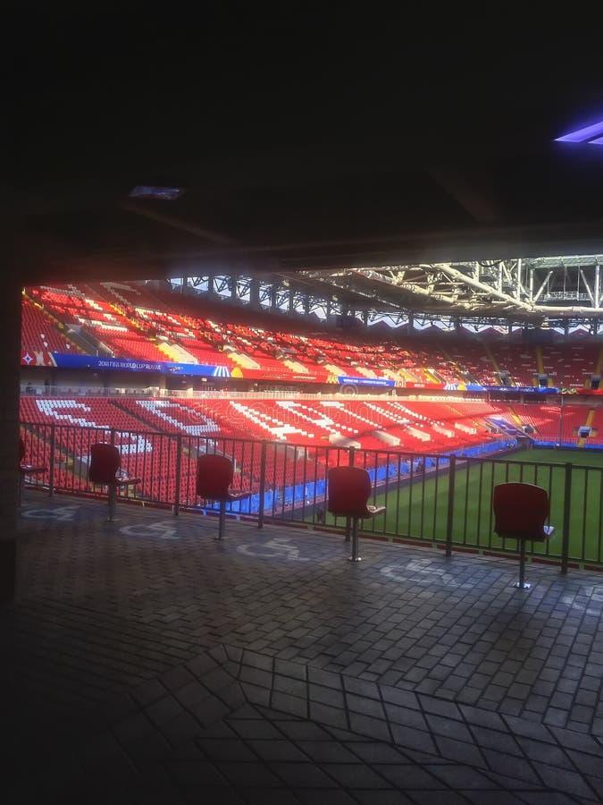 MOSKOU, RUSLAND - JUNI, 13, 2018: Otkritiearena, Spartak-het stadion van de voetbalclub inbegrepen die in Rusland ` s voor 2018 w stock afbeelding