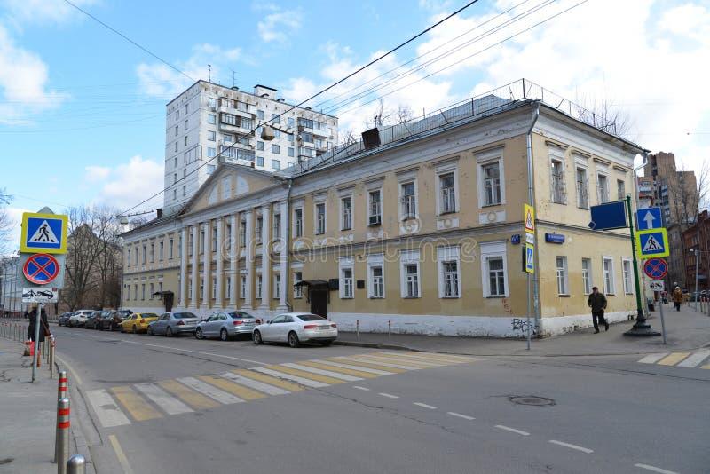Moskou, Rusland - Maart 14, 2016 Het belangrijkste landgoed Alexandrov, architecturaal monument van de huisstad stock foto's