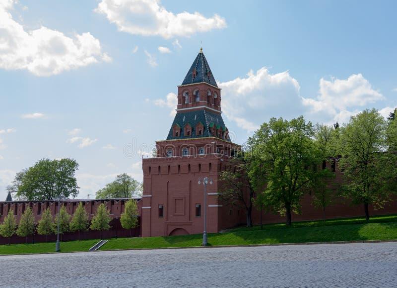 Moskou, Rusland 6 Mei, het Rode Vierkant van 2019, mening van het Kremlin royalty-vrije stock fotografie