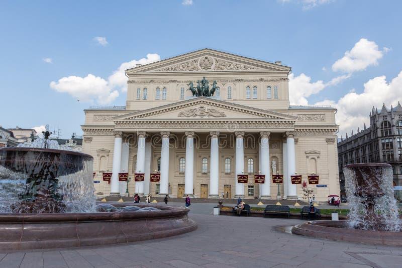 Moskou, Rusland 6 Mei, 2019, mening van het Bolshoi-Theater stock afbeelding
