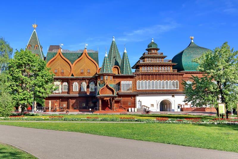 Moskou, Rusland - Mei 12, 2018: Paleis van Tsaar Alexei Mikhailovich in Kolomenskoye stock afbeelding