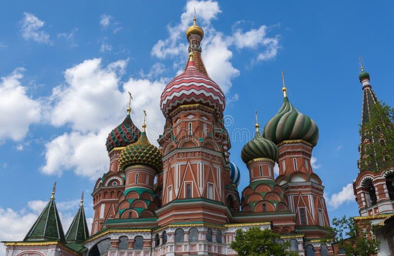 Moskou, Rusland 6 Mei, 2019 Vasilyevsky Cathedral royalty-vrije stock foto