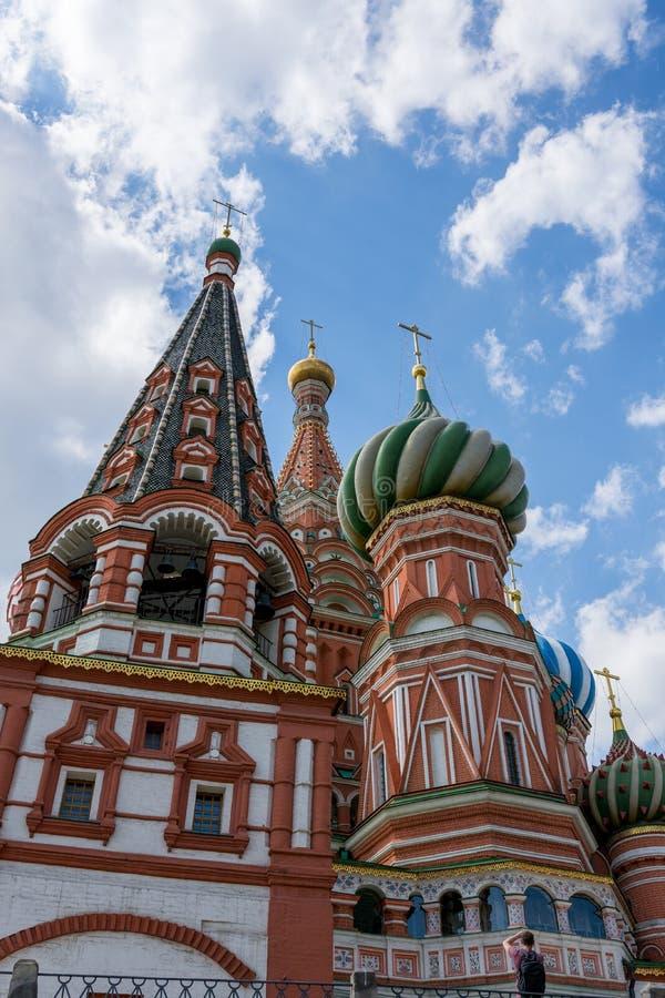 Moskou, Rusland 6 Mei, 2019 Vasilyevsky Cathedral royalty-vrije stock foto's