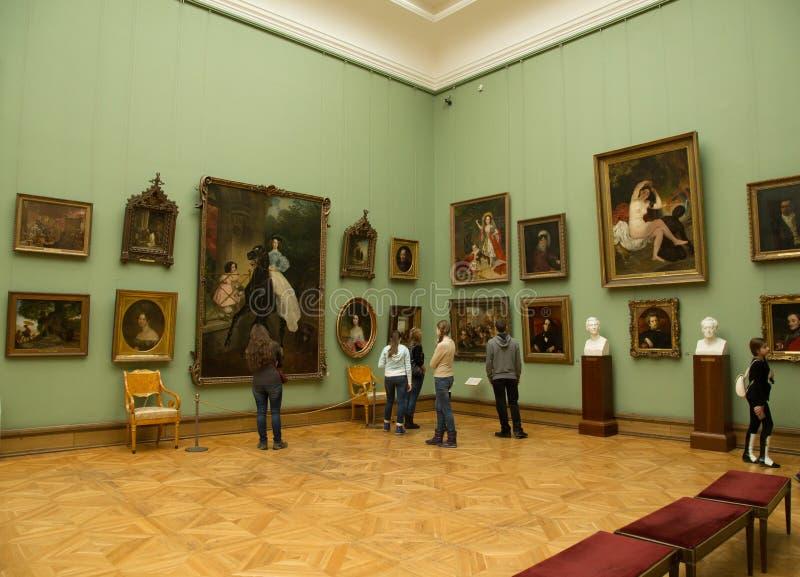 Moskou, Rusland - November 5, 2015: De Staat Tretyakov Art Gallery in Moskou royalty-vrije stock foto