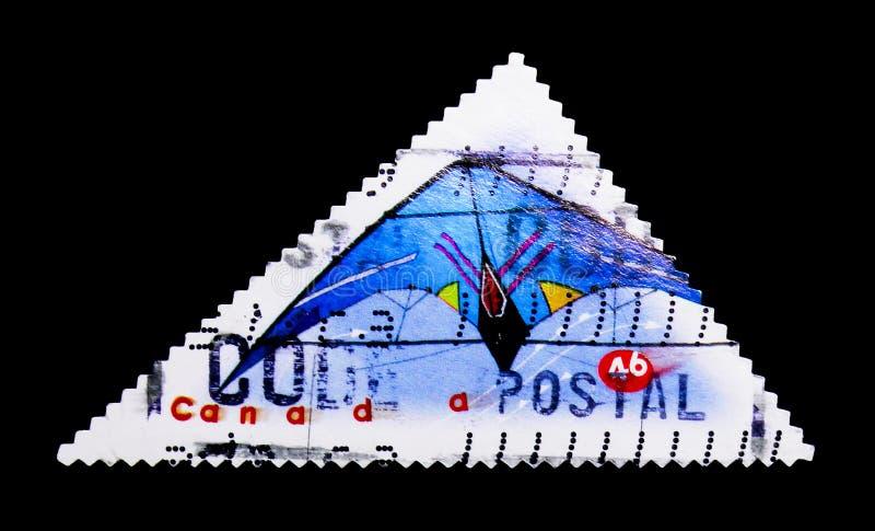 MOSKOU, RUSLAND - NOVEMBER 24, 2017: Een zegel in sh die Canada wordt gedrukt royalty-vrije stock foto