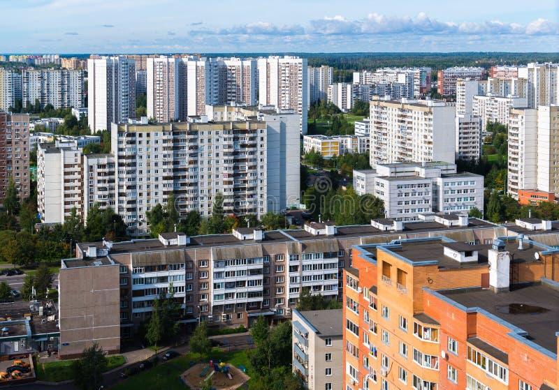 Moskou, Rusland - September 20 2017 De Zelenogradstad slaapt gebied stock fotografie