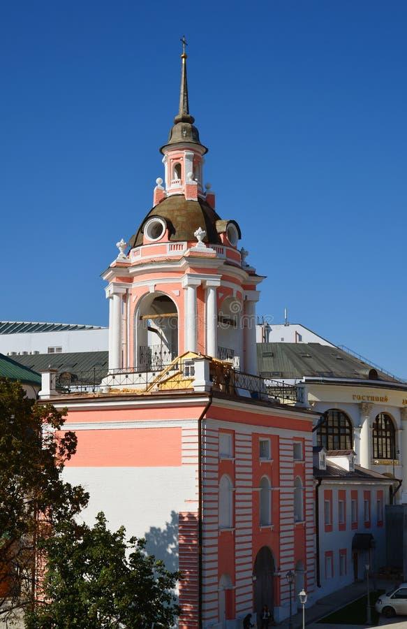 Moskou, Rusland - September 23 2017 Kathedraal van Grote Martelaar Varvara op Varvarka-straat royalty-vrije stock fotografie