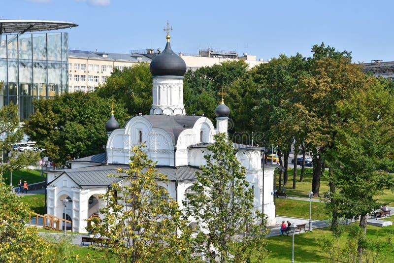 Moskou, Rusland, 01 September, 2018 Kerk van de conceptie van Anna, het begin van de 16de eeuw Het historische district van royalty-vrije stock foto's