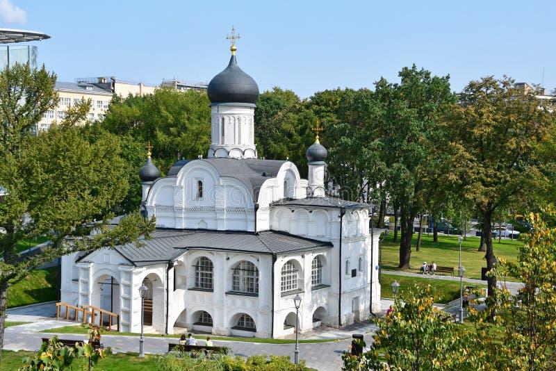 Moskou, Rusland, 01 September, 2018 Kerk van de conceptie van Anna, het begin van de 16de eeuw Het historische district van royalty-vrije stock afbeeldingen