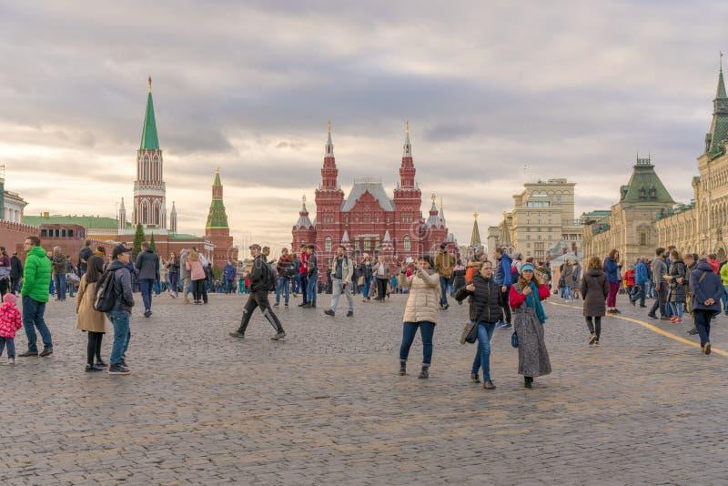 MOSKOU, RUSLAND - September 30, 2018: Mening over Staat Historische Mu stock afbeeldingen