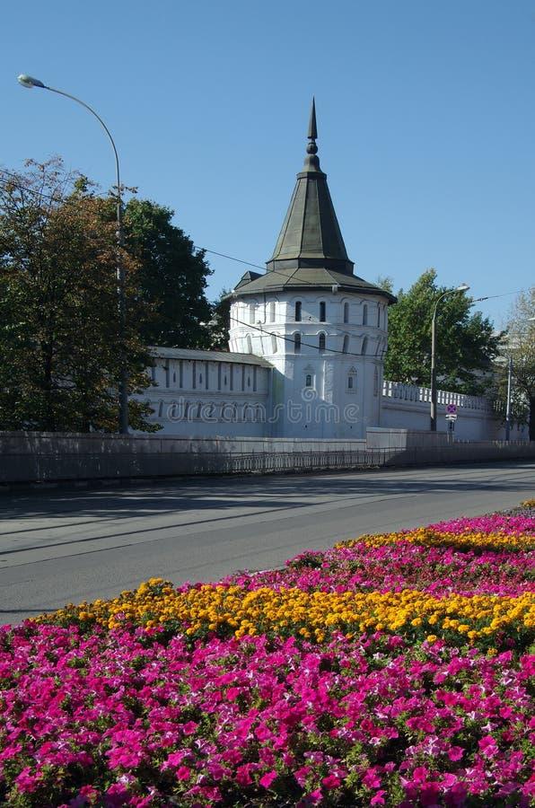 MOSKOU, RUSLAND - September 21, 2015: St Daniel klooster in Mos stock foto