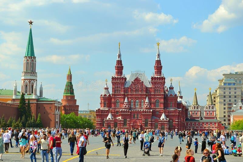 Moskou, Rusland, stad, 2018, megalopolis, het Rode Vierkant, royalty-vrije stock foto's