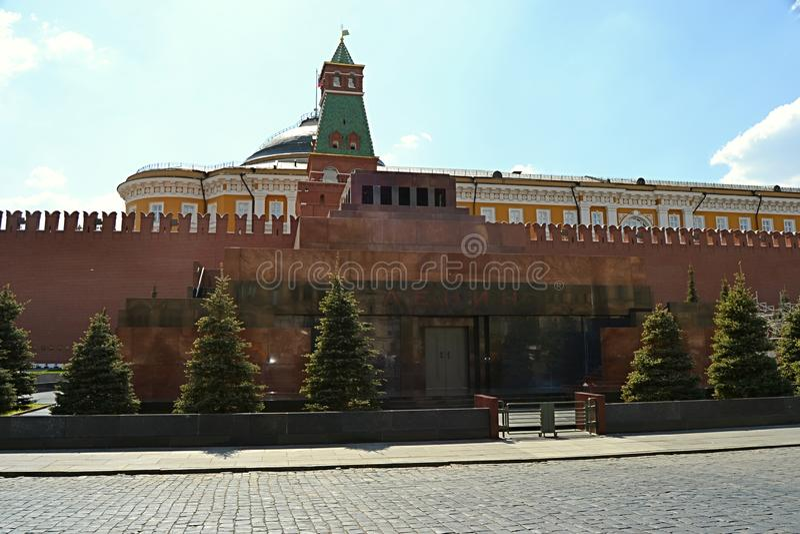 Moskou, Rusland, stad, 2018, megalopolis, het Rode Vierkant, royalty-vrije stock afbeelding