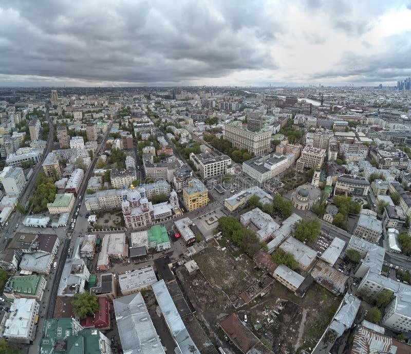 moskou St Milde Kerk Orthodoxe Kerk ter ere van Mild St Lucht panorama stock foto's