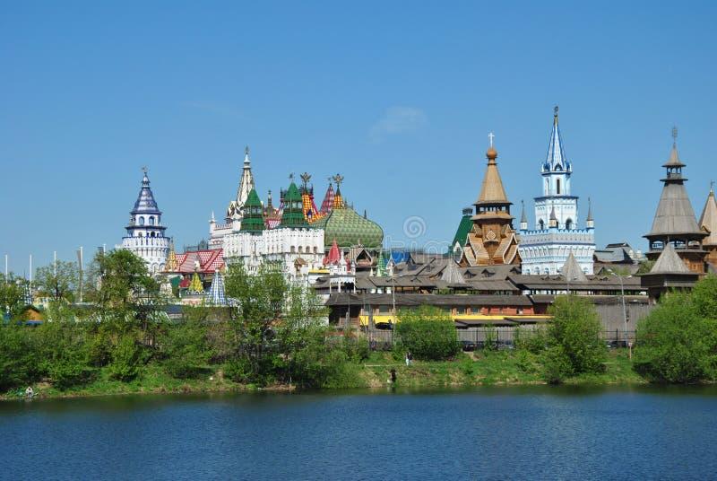 Moskou, vernisage in Izmaylovo royalty-vrije stock foto's