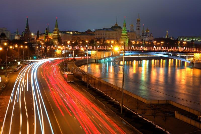 Moskow Night Royalty Free Stock Photo