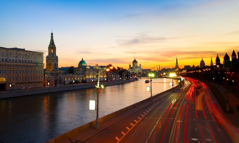 Moskva河的堤防 免版税库存照片