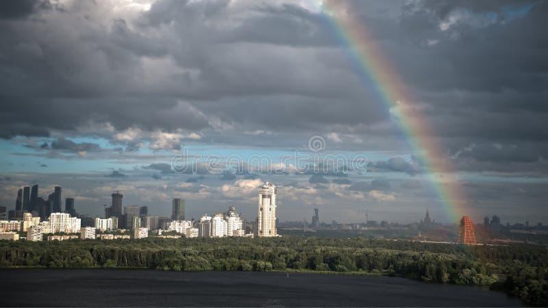Moskva affärsmitt på 4th Juli arkivbild