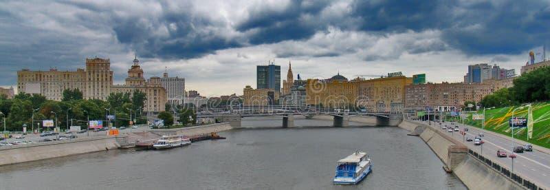 Moskva flod arkivfoto