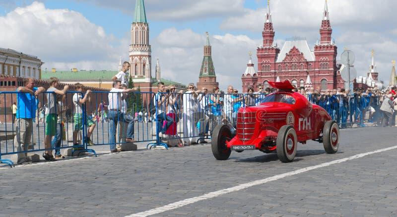 Moskva GAZ GL-1, 1940, den första sovjetiska sportbilen royaltyfri foto