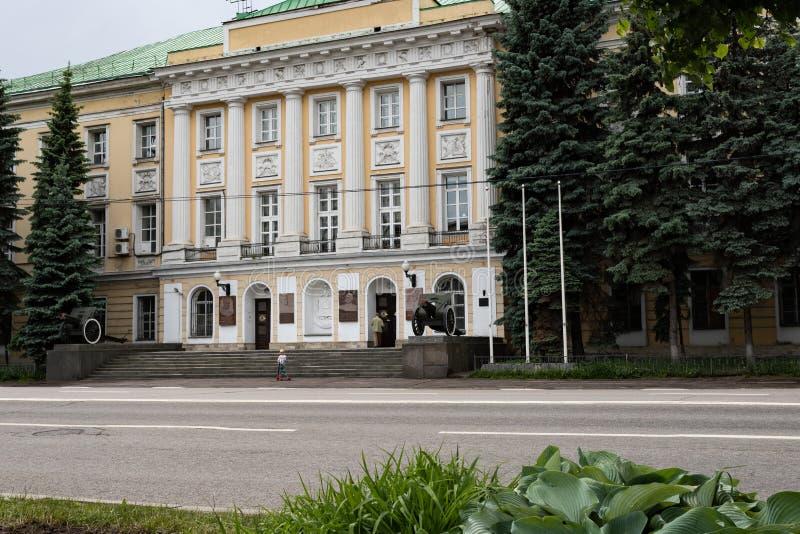 Moskva Ryssland kan 25, 2019, en historisk monument av det 18th ?rhundradet byggnaden av den milit?ra avdelningen, den tidigare s royaltyfria foton