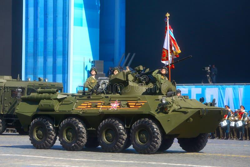 MOSKVA RYSSLAND - MAJ 07, 2015: BTREN-82A (djup moderniseringnolla royaltyfri foto