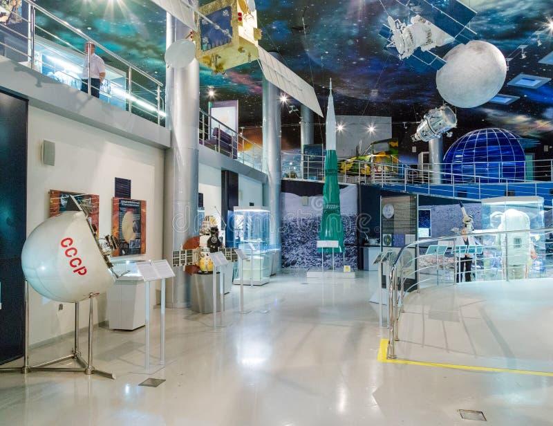 MOSKVA RYSSLAND - MAJ 31, 2016: Utläggning för utrymmemuseum arkivfoton