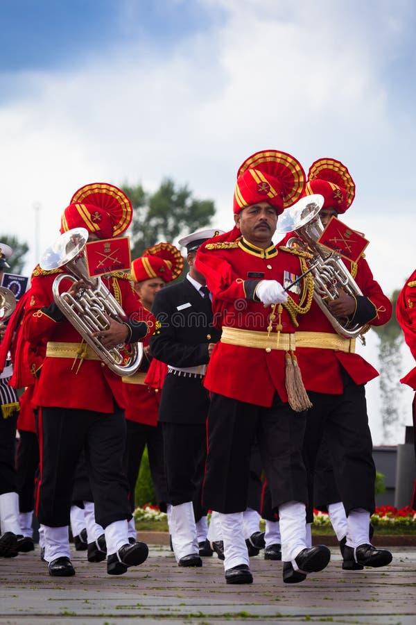 Moskva Ryssland, Poklonnaya kulle, Augusti 27, 2017 - Tri-service royaltyfri fotografi