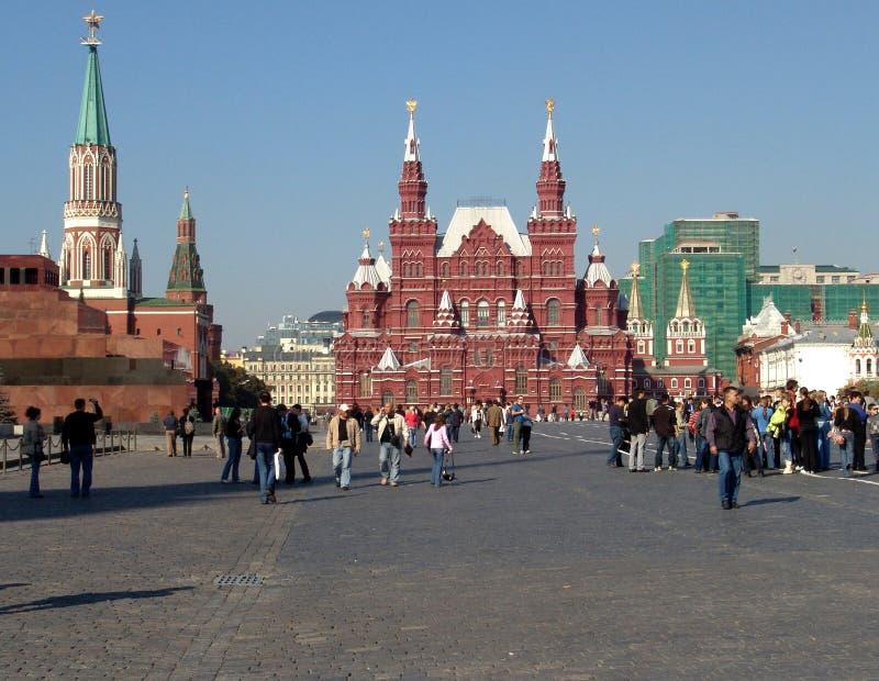 Moskva Ryssland - röd fyrkant: sikt av det historiska museet royaltyfri bild