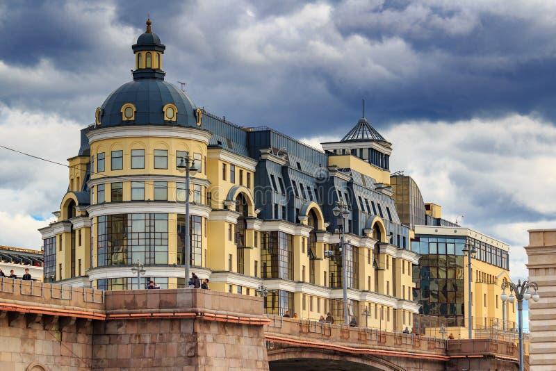 Moskva Ryssland - September 30, 2018: Byggnad av det centrala kontoret av banken av Ryssland för det centrala federala området på royaltyfri fotografi