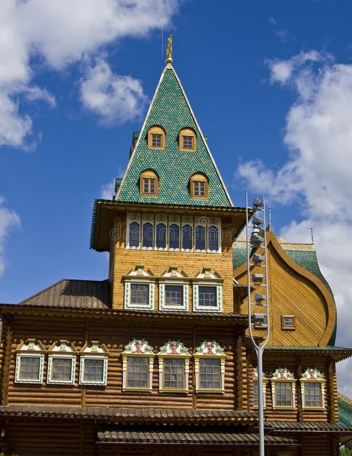 Moskva slott i Kolomenskoye arkivbilder