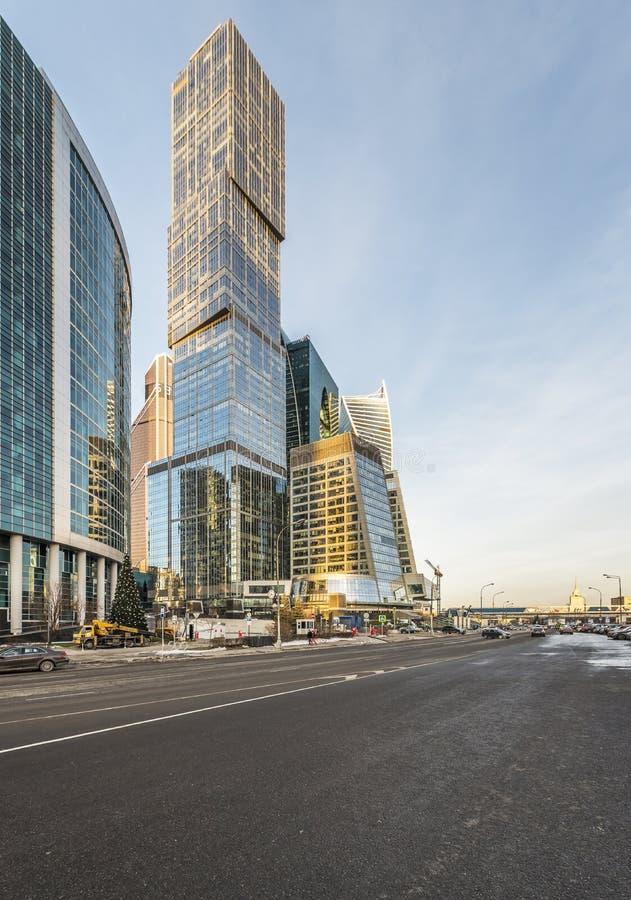 Moskva-stad för mitt för tornhuvudstadsaffär royaltyfri fotografi