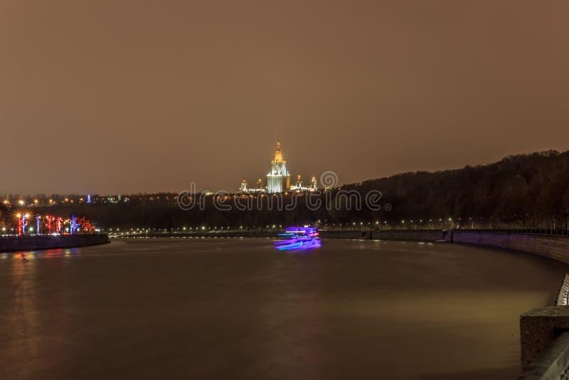 Moskva tidigt på morgonen och afton arkivbild