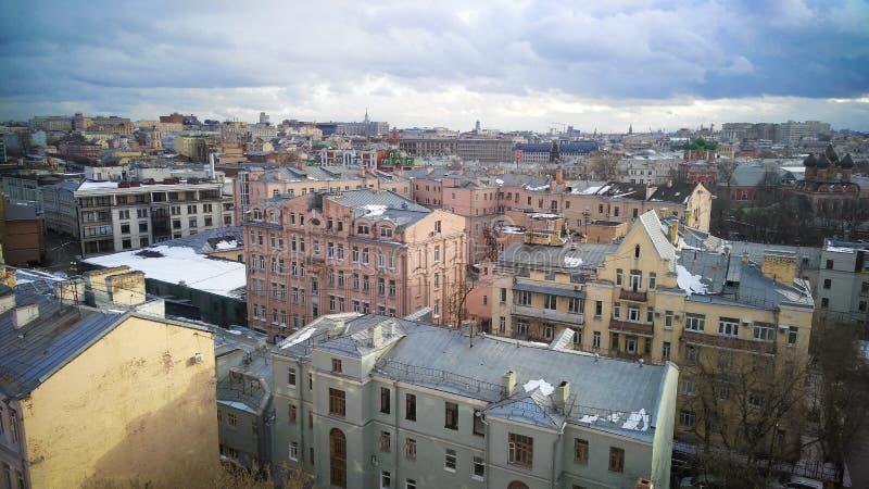 Moskvacentrumsikt royaltyfria bilder