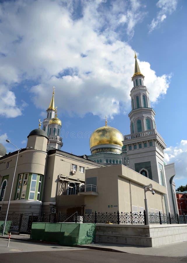 Moskvadomkyrkamoské Den huvudsakliga moskén i Moskva, en av de störst i Ryssland och Europa royaltyfri bild