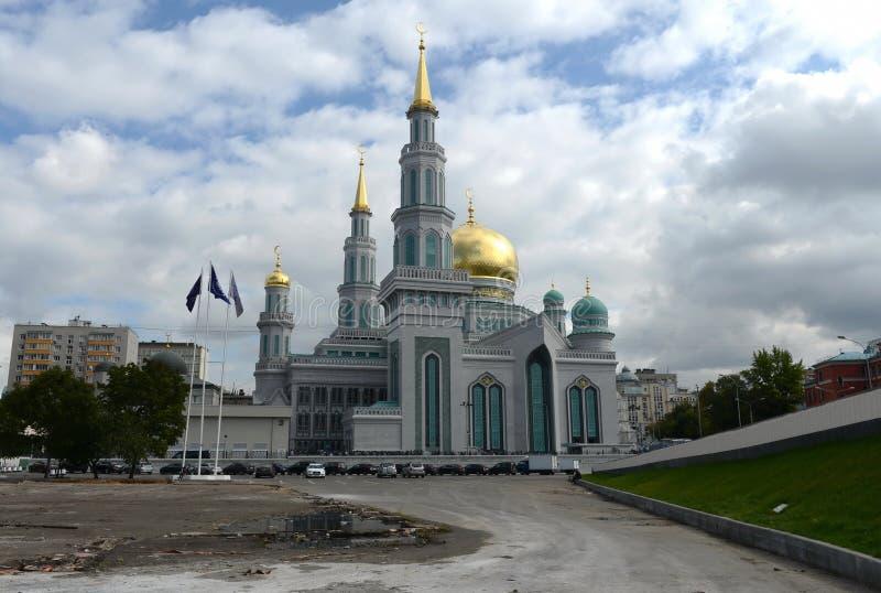 Moskvadomkyrkamoské Den huvudsakliga moskén i Moskva, en av de störst i Ryssland och Europa arkivbild