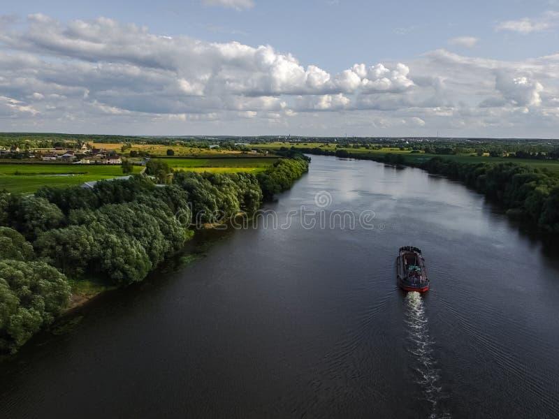 Moskvaflod, sikt från över royaltyfri bild