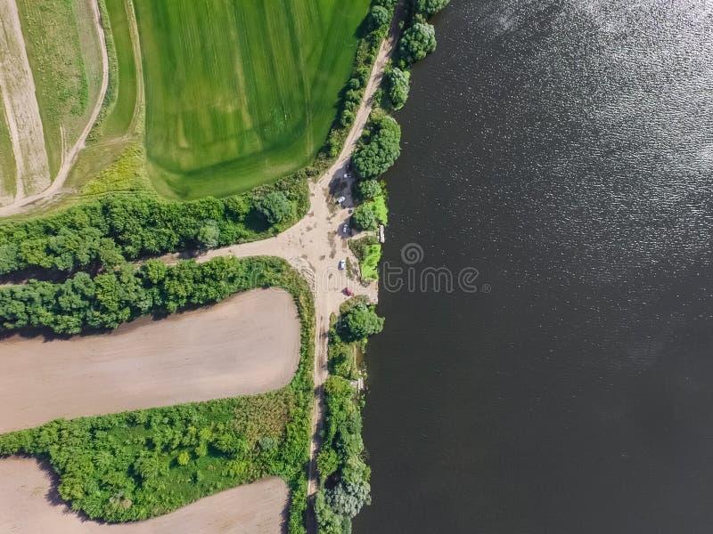 Moskvaflod, sikt från över arkivfoton